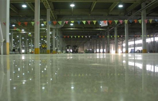 惠州汝湖工业厂房金刚砂耐磨地坪施工工艺包工包料