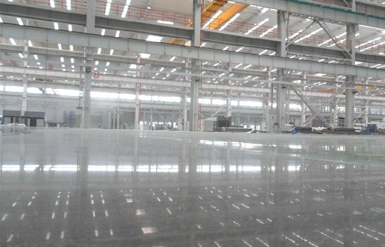 惠州镇隆工业区厂房仓库金刚砂耐磨地坪施工工艺