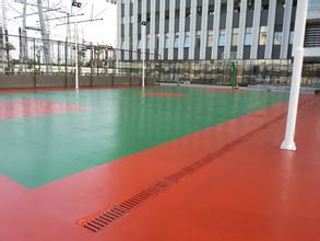 惠州小金口运动场地硅pu丙烯酸球场地坪施工丙烯酸材料供应