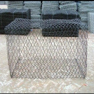 堤坝防护单隔板石笼网箱 河道治理六角网格宾网 镀锌铁丝网笼