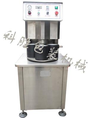 衡水科胜半自动四工位真空旋盖机|笋菇酱菜真空旋盖机