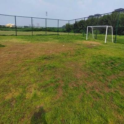 宝鸡市运动球场围网 框架隔离围网 菱形勾花网围栏